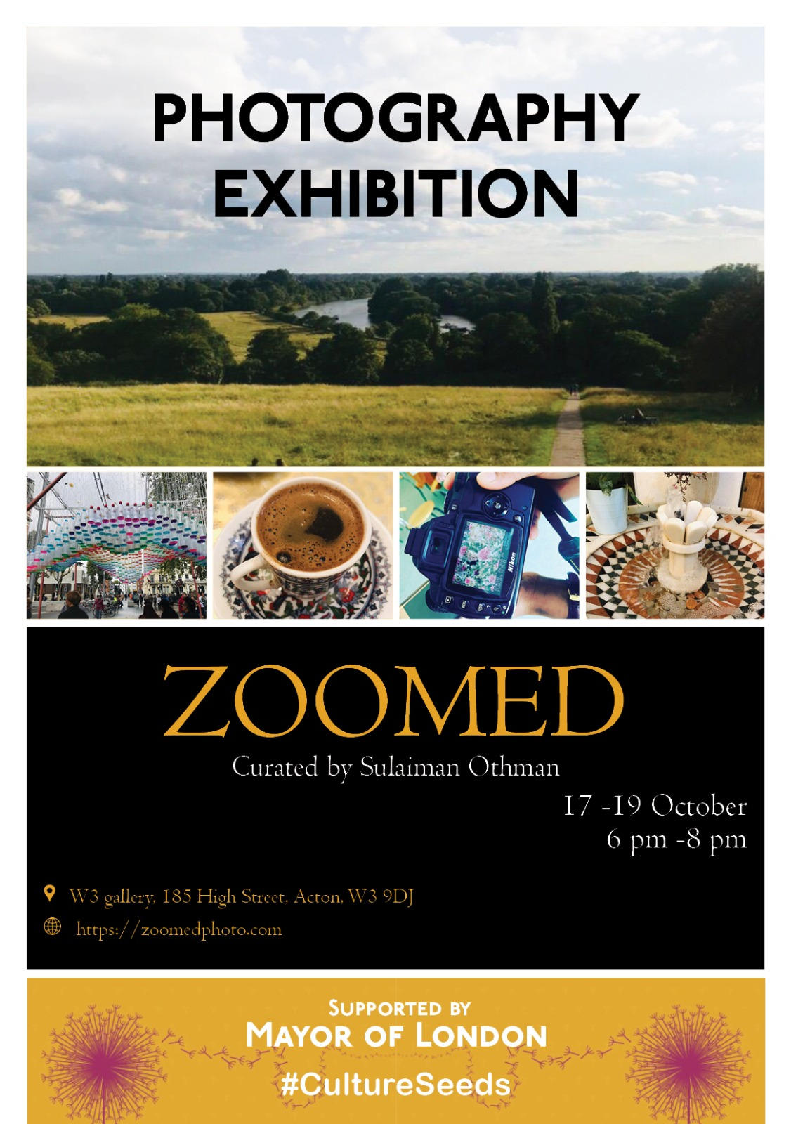 zoomed exhibition w3 gallery