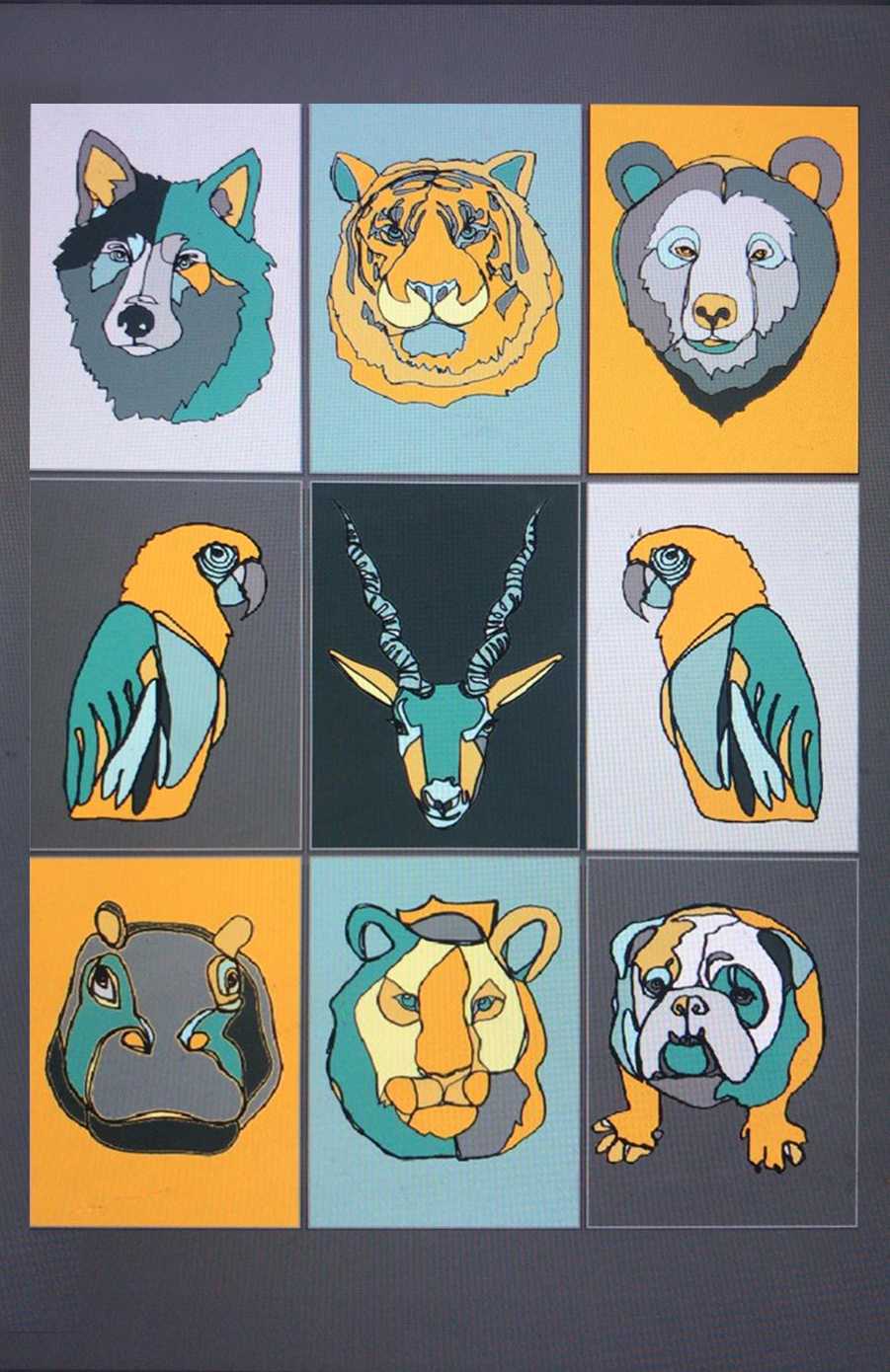A Selection of Artist KC's Animal images